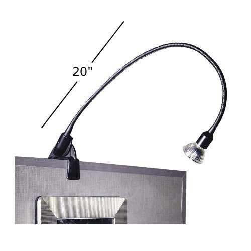 Low Voltage Archable Arm Display Light with Plug-in Electronic Transformer Finish: Black