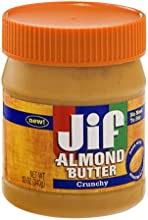 Jif Almond Butter Crunchy 12 OZ Pack of 6