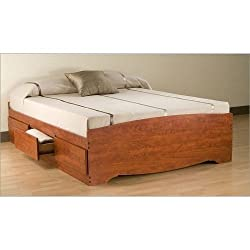 Queen 6 drawer Platform Storage Bed Cherry