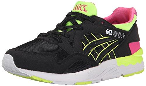 ASICS Gel Lyte V PS Running Shoe (Toddler/Little Kid), Black/Black, 11 M US Little Kid