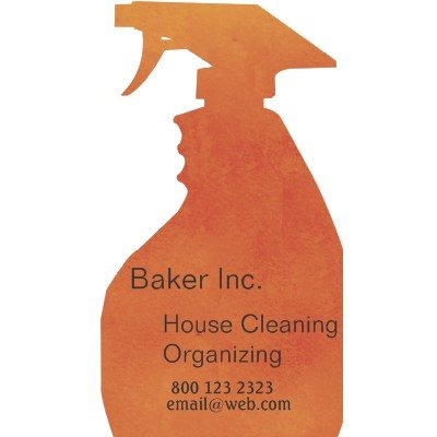 House Cleaning Professional household Business Cards
