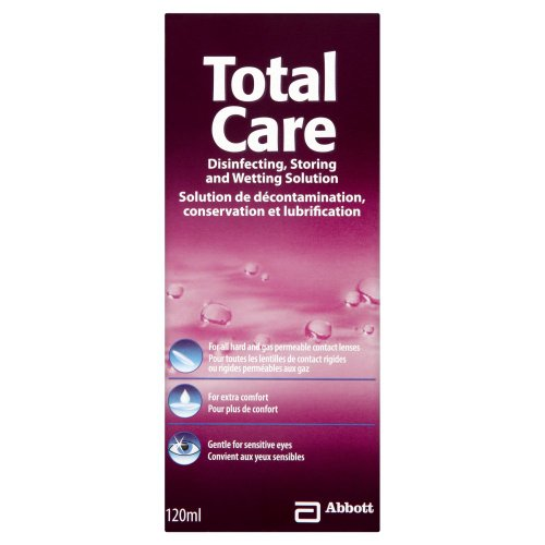 Total Care Care Products-Gas Permeable & Hard Lens Disinfecting & Wetting Solution 120ml