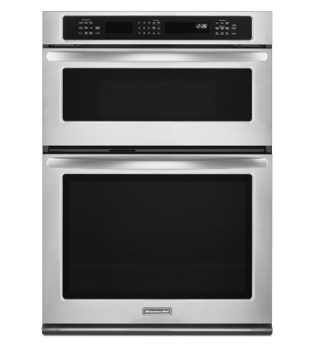 """KitchenAid KEMS379BWH Architect II 27"""" White Electric Combination Wall Oven - Convection"""