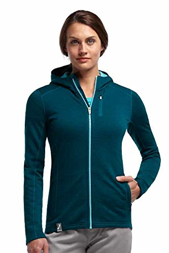Icebreaker Damen Jacke kapuze Fleece Cascade Long Sleeve Zip Hood Stripe