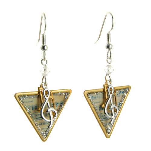 Vintage Music Theme Dangle Earrings Fashion Jewelry-- Hypo-allergenic