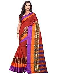 Vatsla Enterprise Women's Cotton Silk Saree With Blouse Piece (VWLTXDYD13)