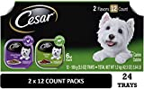 Cesar Soft Wet Dog Food Classic Loaf In Sauce Top Sirloin & Grilled Chicken Flavors Variety Pack, (24) 3.5 oz. Easy Peel Trays