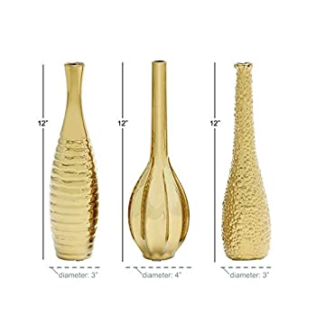Deco 79 92558 Ceramic Vase 3 Assorted 12