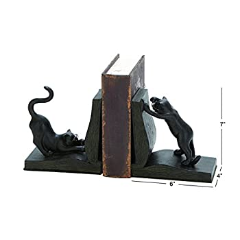 Polystone Cat Bookend Pair for Books Lovers-(44690)