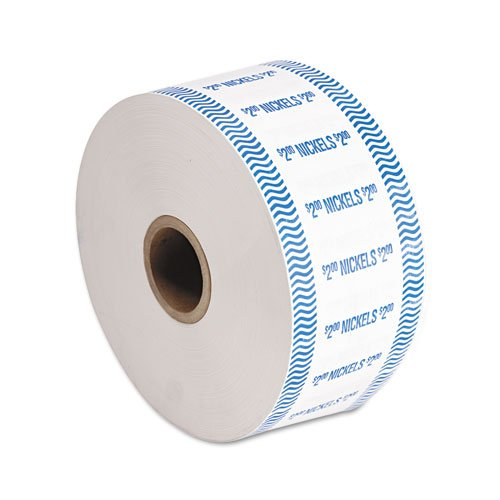 PM Company Products - PM Company - Automatic Coin Wrap, Nickels, $2, Continuous Roll Wrappers, 1900/Roll - Sold As 1 Roll - Premium heavy-duty Kraft stock. - Compatible with most automatic coin-wrapping machines. - Meets American Banker Association standards.