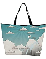Snoogg Are We There Yet Designer Waterproof Bag Made Of High Strength Nylon