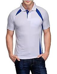 Scott Crackle Men Dryfit White With Royal Blue T-shirt (Jersey)