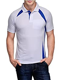 Scott Crackle Men Dryfit White With Royal Blue T-shirt (Jersey)