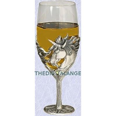 Medieval Unicorn Wine Glass Gothic Mystical
