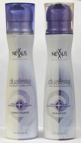 Nexxus Dualiste Color Protection & Anti-Breakage Duo Set Shampoo and Conditioner 11-Ounce Bottles