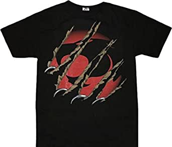 Amazon.com: Thundercats Claws Ripping Through Logo Black T ...