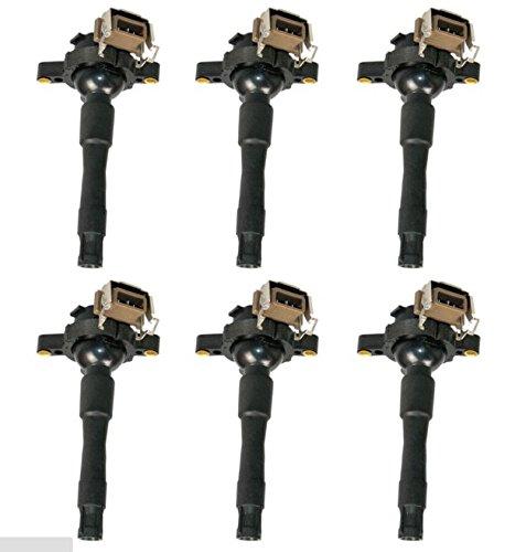 12131703825 ignition coil coils 6 pack for bmw e46 e39 x5 e36 325 330 328 m3 2 3 2 5 2 8 3 0