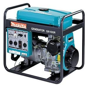 Makita G6100R 5,800-Watt 11 HP Portable Power Generator