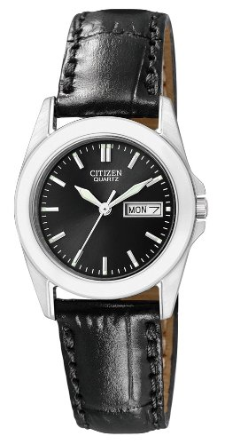 Citizen Damen-Armbanduhr XS Analog Quarz Leder EQ0560-09EE