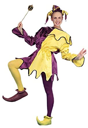 Amazon.com: Mardi Gras Purple/Yellow Satin Jester Adullt ... - photo #19