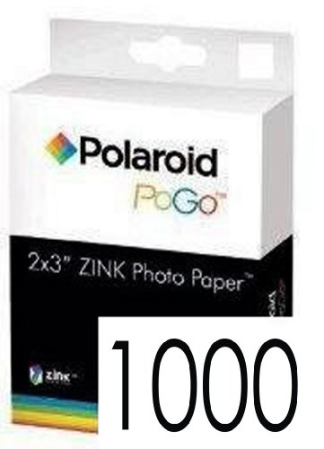Polaroid Zink media 1000 Pack Photo Paper for Polaroid Pogo Cameras and Printers