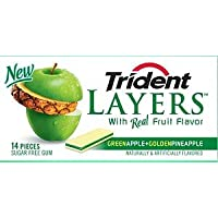 Trident Layers Gum Apple & Pineapple, Size: 12x14