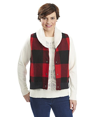 Woolrich 18570 Womens Giant Buffalo Vest, Old Red - 3XL