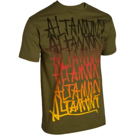 Altamont Repeated T-Shirt - Short-Sleeve -Men's Olive, M