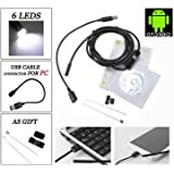 6 LED 5.5mm Lens IP67 USB Android Endoscope Borescope Waterproof Tube Snake Camera For Android Phone And PC