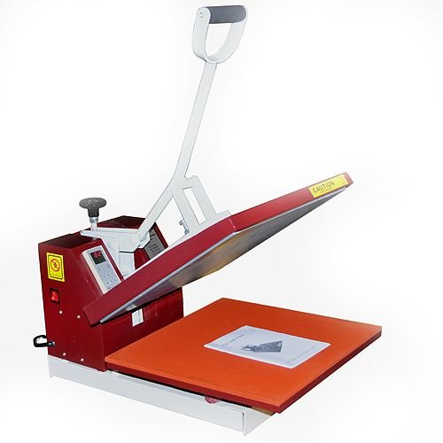 15 X15 Digital High Press Sublimation Clamp Shell T Shirt Heat Press Transfer Screen Printing Machine 15 x 15 RED NEW