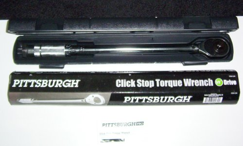 3/8 inch Drive Click Stop Torque Reversible Wrench with Carrying Case and Torque Range: 5 to 80 ft. lbs.