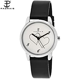 Paqraig- White/Black Analog Watch - For Women