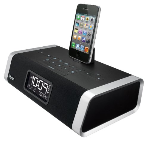 ihome app enhanced dual alarm clock radio for iphone ipod. Black Bedroom Furniture Sets. Home Design Ideas