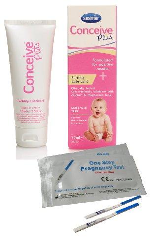 Conceive Plus Fertility Lubricant 75mL + 2 x 10mIU Pregnancy Tests