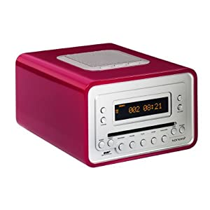sonoro cubo cd player dab radio alarm clock pink electronics. Black Bedroom Furniture Sets. Home Design Ideas