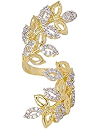 JDX American Diamond Gold Plated Ring For Women