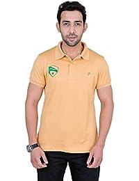 Fabnavitas Polo Neck Beige Slim Fit T-shirt