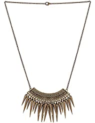 Gorigama Trendy Fashionable Thorn Necklace For Girls Best Fancy Party Wear Western Designer Necklace For Girls.
