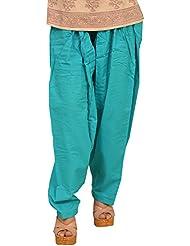Chhipa Cotton Plain Women Plain Salwar Turquoise
