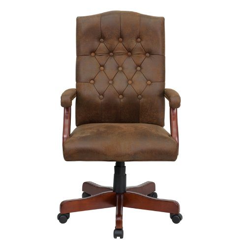 Flash Furniture 802-BRN-GG Bomber Brown Classic Executive Office Chair 3