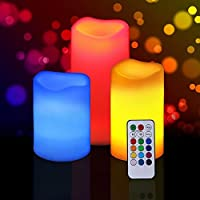 Set Of 3 Candles With Changing LED Colour By Shopjinie