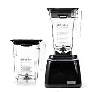 This blender will have a 1 year warranty from Blendtec. When you receive your blender give Blendtec a call. BPA-free 90oz WildSide Jar, markings only go up to 36oz total capacity is 90oz.