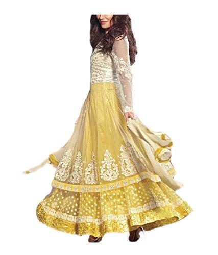 Crazevilla Women Net Unstitched Anarkali Suit
