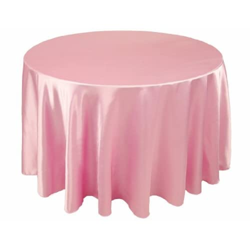 120 inch round pink satin tablecloth 10 pack for 120 inch round table linens