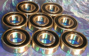 8 Bearing 6205-2RS 25x52x15 Sealed