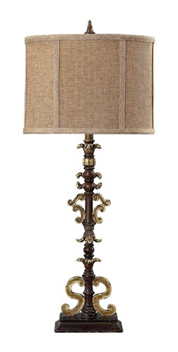 Sterling Industries 93-9189 Mini Open Scroll Work Buffet Lamp
