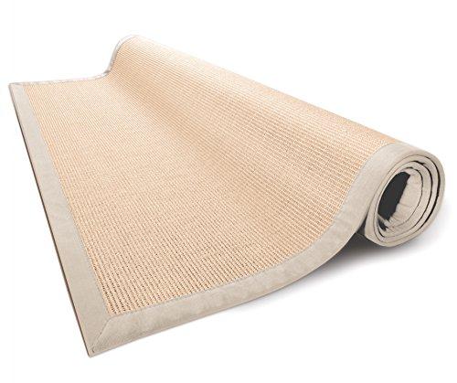 casa pura Area Rug | Sisal Non-Slip Rug for Living Room or Bedroom | Environmentally-Friendly 100% Natural Fiber Carpet | 2 Sizes | Beige - 4 x 6