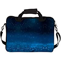 "Snoogg Blue Rain 14"" 14.5"" 14.6"" Inch Laptop Notebook SlipCase With Shoulder Strap Handle Sleeve Soft Case With..."