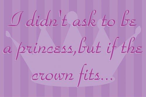 "Art 4 Kids ""If The Crown Fits Purple"" Mounted Art Print, 18""x12"""