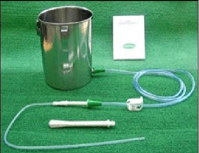 Stainless Steel Enema Kit with PVC Tubing: No Latex. 2 Quart Capacity